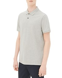 Sandro Knit Slim Fit Polo Mocked Grey