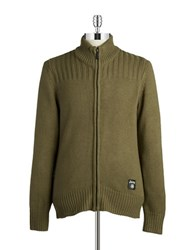 Jeep Zip Front Sweater Green