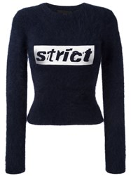 Alexander Wang Strict Cropped Jumper Blue