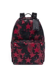 Valentino Star Calfskin Leather Backpack Black