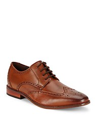 Florsheim Leather Wingtip Dress Shoes Saddle Tan