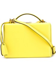 Mark Cross 'Grace' Small Box Bag Yellow And Orange