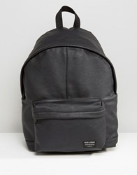 Jack And Jones Backpack Faux Leather Black