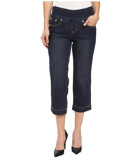 Jag Jeans Petite Caley Classic Fit Crop In Blue Shadow Blue Shadow Women's Jeans