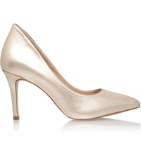 Kg By Kurt Geiger Bella Metallic Leather Courts Champagne