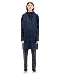 Rains Long Jacket In Blue