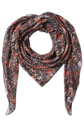 The Kooples Printed Scarf With Silk Multicolor