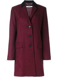 Givenchy Contrast Collar Coat Red