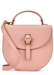 Meli Melo Ortensia Pink Leather Satchel