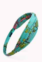Forever 21 Tropical Floral Knotted Headwrap