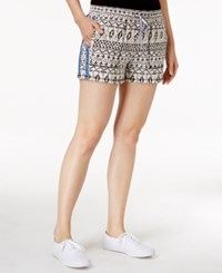 Lucky Brand Printed Elastic Waist Shorts Grey Multi