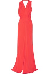 Vionnet Cutout Jersey Gown Red
