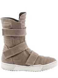 Demobaza Cotton Canvas Velcro Sneaker Boots