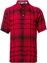 Mcq By Alexander Mcqueen Tartan Print Polo Shirt Red
