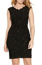 Lauren Ralph Lauren Plus Size Women's Sequin Lace Sheath Dress