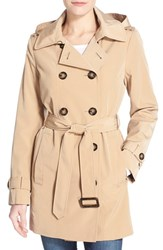 Women's Calvin Klein Double Breasted Trench Coat Khaki