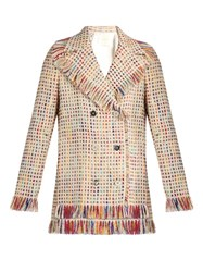 Marco De Vincenzo Double Breasted Tweed Jacket Multi