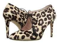 Kate Spade Davie Blush Brown Leopard Haircalf Print High Heels Animal Print
