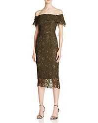 Style Stalker Stylestalker Thalia Off The Shoulder Lace Dress Olive