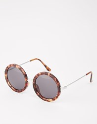Cheap Monday Oversized Round Sunglasses Brown