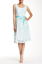 Robbie Bee Abstract Floral Midi Dress Multi