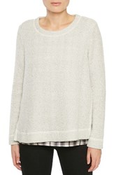 Sanctuary Women's The One N Done Sweater Winter White Maxwell Plaid