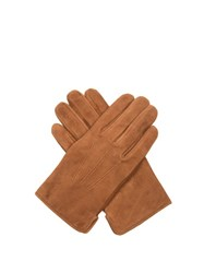 A.P.C. Luc Suede Gloves Light Brown