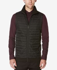 Perry Ellis Men's Big And Tall Puffer Quilted Vest Charcoal