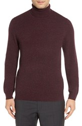 Nordstrom Men's Men's Shop Cashmere Turtleneck Sweater Burgundy Fudge