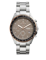 Fossil Sport 54 Stainless Steel Bracelet Chronograph Watch Silver