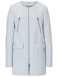 Betty Barclay Cocoon Coat Pearl Blue