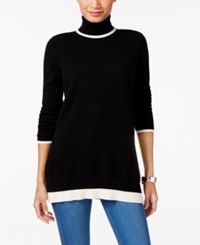Charter Club Cashmere Turtleneck Sweater Only At Macy's Classic Black