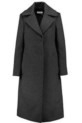 Jil Sander Deconstructed Fleece Wool And Cashmere Coat Charcoal