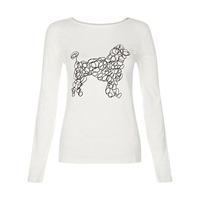 People Tree Scribble Dog Print T Shirt White