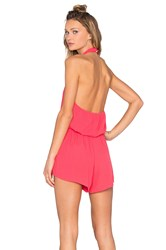 Bishop Young Halter Romper Coral