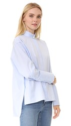 Dion Lee Quarter Frayed Shirt Sky