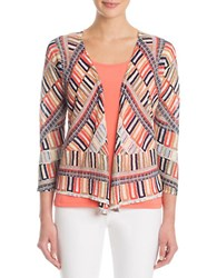 Nic Zoe Petites Four Way Sahara Square Cardigan Peach
