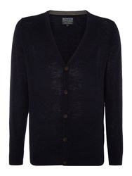 Howick Arlington 100 Lambswool Cardigan Dark Navy