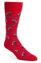 Hot Sox Men's 'Football' Socks Red