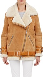 Acne Studios Shearling Lined Velocite Moto Jacket Nude