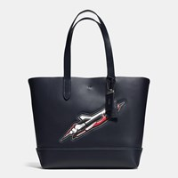 Coach Rocket Ship Gotham Tote In Glovetanned Leather Bp Navy Field