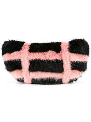 Shrimps Faux Fur Bag Black