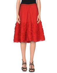 Blumarine Skirts Knee Length Skirts Women Red