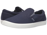 Crocs Citilane Slip On Sneaker Navy White Men's Slip On Shoes Blue