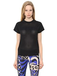 Versace Logo Techno Mesh Gym T Shirt