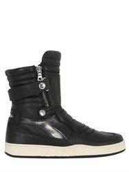 Diadora Milano Biker Leather High Top Sneakers