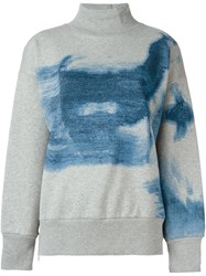Golden Goose Deluxe Brand Dyed Sweatshirt Grey