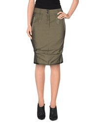Marithe' F. Girbaud Marithe Francois Girbaud Skirts Knee Length Skirts Women Military Green