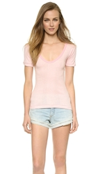 Edith A. Miller Scoop Neck Tee Pink Micro