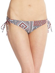 L Space Gazebo Reversible String Bikini Bottoms Charcoal Multi